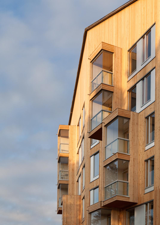 Oopeaa puukuokka housing block for House builder